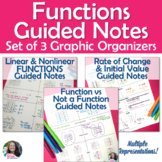 Functions Guided Notes/ Graphic Organizer BUNDLE