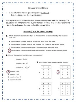 Functions Guided Notes and Practice