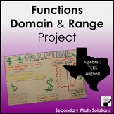Functions, Domain & Range Project (A12A, A12B, A2A)