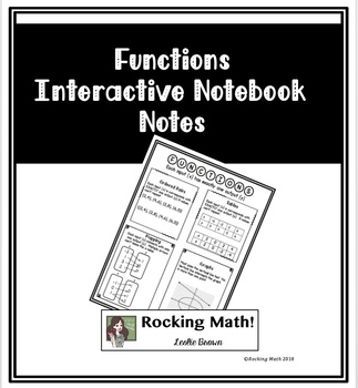 Functions Interactive Notebook Notes