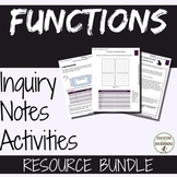 Functions Activities and notes bundle for Algebra 1 Curriculum