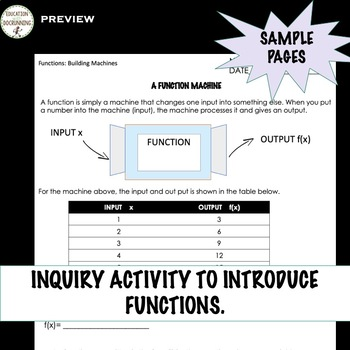 Functions 3 activities for inquiry on Functions Inverse and Transformations