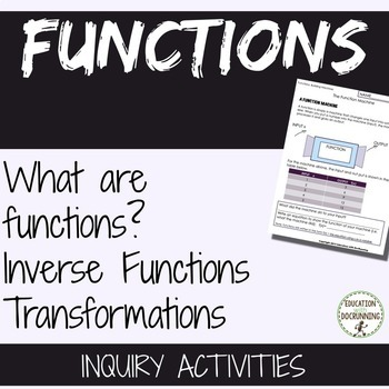 Functions 3 activities for inquiry on Functions Inverse an