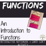 Functions Interactive Notebook Foldable and Activity for Introducing Functions