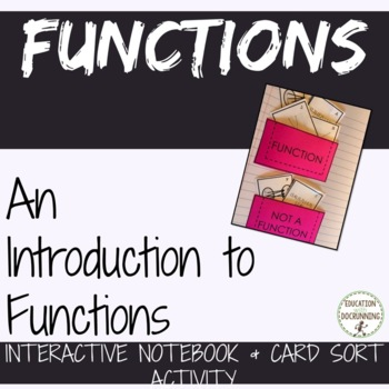 Functions Interactive Notebook Foldable and Activity for I