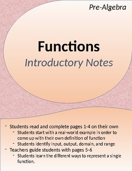 Functions: Introductory Activity
