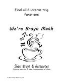 Functions - Inverse Trig Functions - half