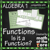 Functions - Is it a Function? - GOOGLE Slides