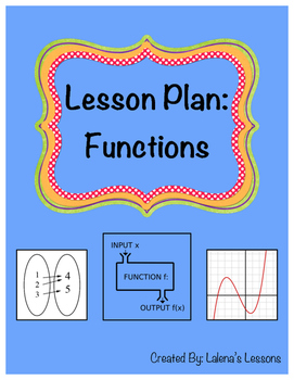 Functions Lesson Plan