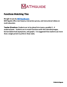 Functions Matching Tiles