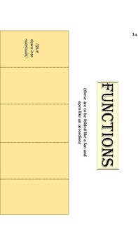 Functions Notes/Foldables
