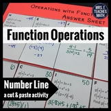Function Operations Cut and Paste Activity