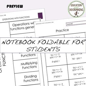 Combination of Functions Interactive Notebook Foldable