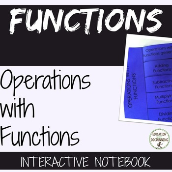Operations with Functions Interactive Notebook Foldable