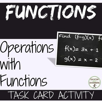 Operations with Functions Task Card Activity for Function Unit