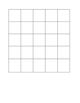 Memory Matching Game Board Template