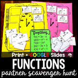 Evaluating Functions Partner Scavenger Hunt Activity - pri