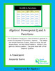 Algebra I: Powerpoint Q and A Game - Functions