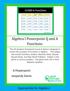 Powerpoint Q and A Game - Functions
