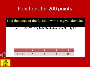 Functions & Proportional Reasoning Review Game