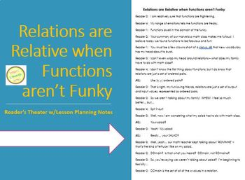 Functions Reader's Theater & One Day Lesson Plan - Introdu