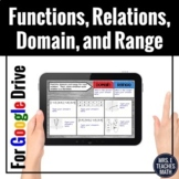 Functions Relations Domain and Range Digital Activity