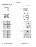 Functions, Relations, Function Notation and Intercepts