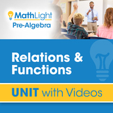 Functions & Relations | Unit with Videos | Good for Distan