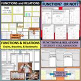 BUNDLE Functions Relations Vertical Line Test Reteach Prep Review