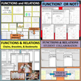 Functions & Relations Task Card Set Vertical Line Test; Re