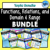 Functions, Relations, and Domain and Range BUNDLE