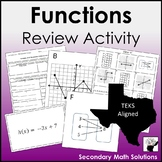 Functions Review Activity (A12A, A12B)