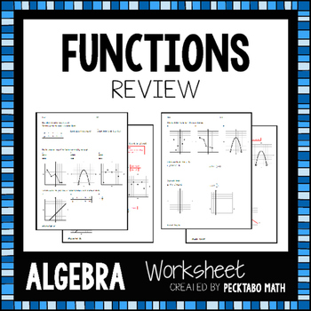 Functions Review Worksheet