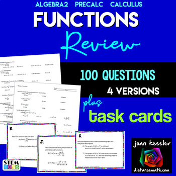 Functions Big Review for Calculus  PreCalculus