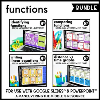 Functions - Supplemental Digital Math Activities for Google Slides™