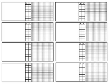 Functions Tables & Graphs Work Paper Templates IEP Accommodations