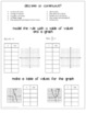 Functions Tables and Graphs Foldable