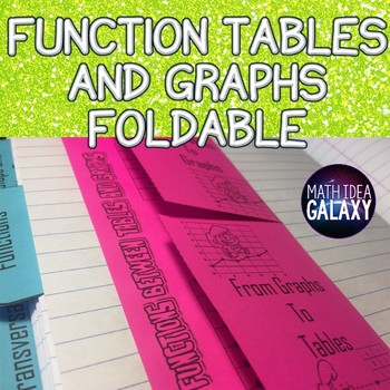 Functions Tables and Graphs - Foldable