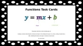 Functions Task Cards with QR Codes