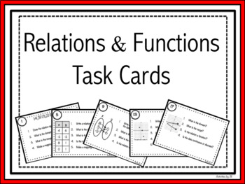 Relations and Functions Task Cards