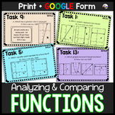 Analyzing & Comparing Functions Tasks w/ GOOGLE Form for d
