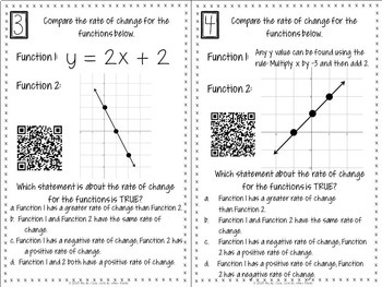 Functions Task Cards with QR Codes!