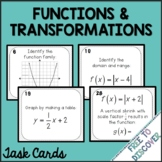 Functions & Transformations Task Cards