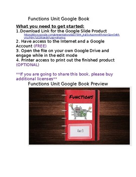Functions Unit Google Book
