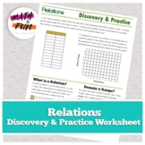 Functions Unit: Relations Discovery Worksheet