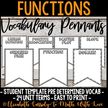 Functions Vocabulary - DIY Pennant Banner