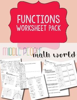 Functions Worksheet Pack