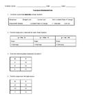 Functions Worksheet/Quiz