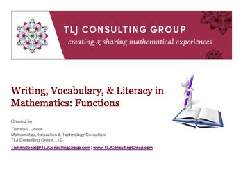 Writing, Vocabulary & Literacy in Mathematics: Functions