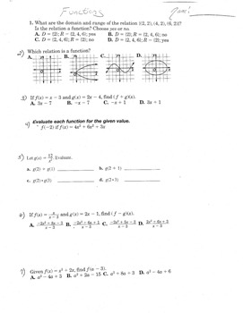 Functions and Domain and Range f(g(x))